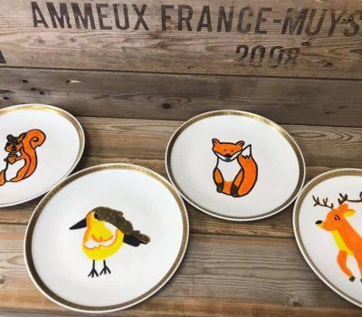 Handgeschilderde borden